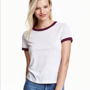 H&M Heather Jersey Crop Top